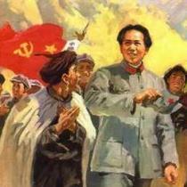 长征油画:彝族人民热爱毛主席